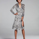 Adam Lippes Long-Sleeve Leopard-Print Wrap Dress