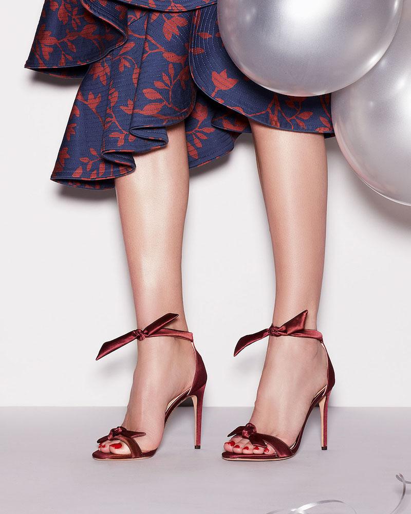 Alexandre Birman Clarita Satin Ankle-Tie Sandal