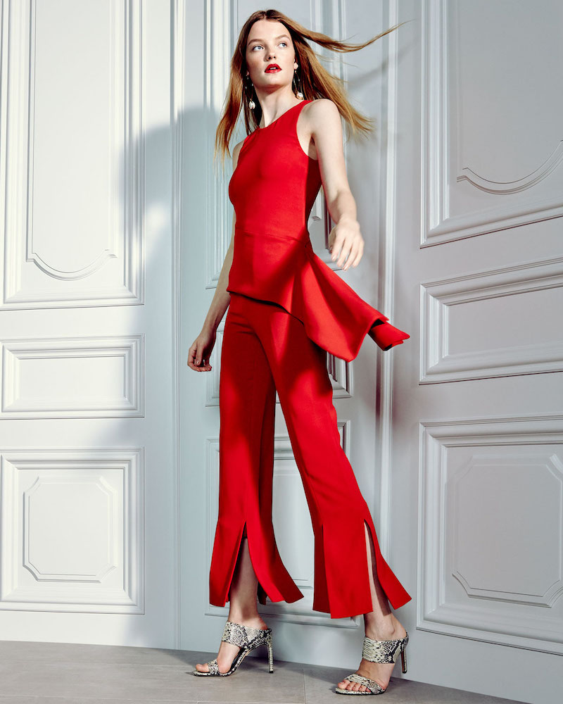 Cushnie et Ochs Stretch-Crepe Straight-Leg Pants with Car-Wash Hem