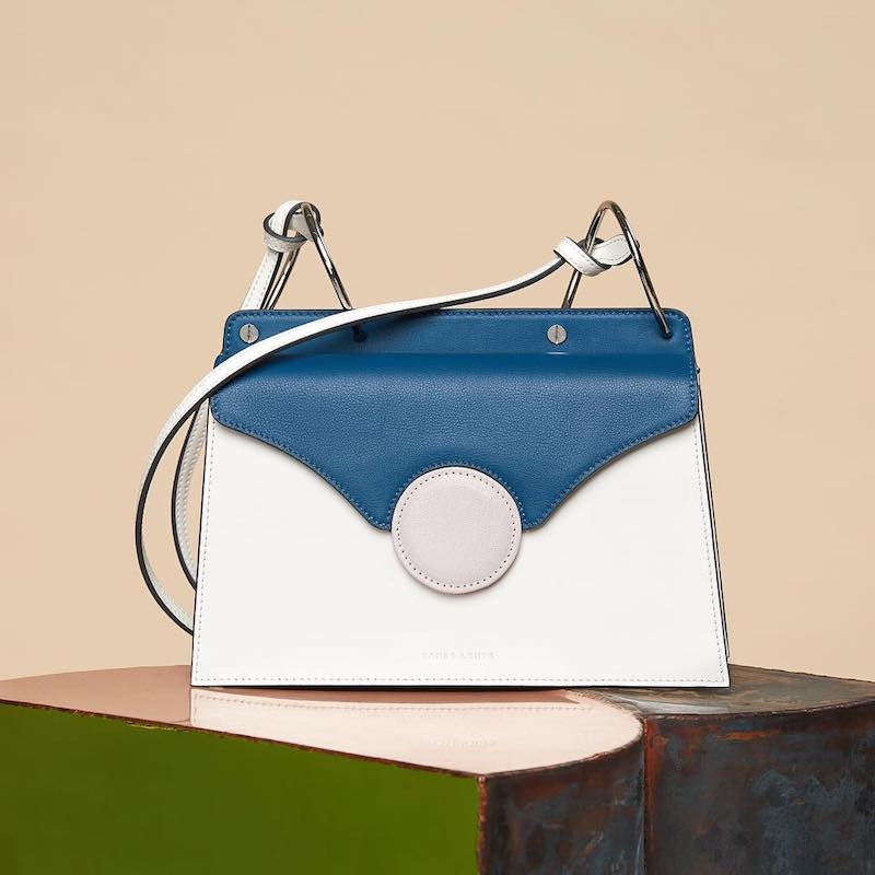 Danse Lente Phoebe Color-Block Leather Shoulder Bag