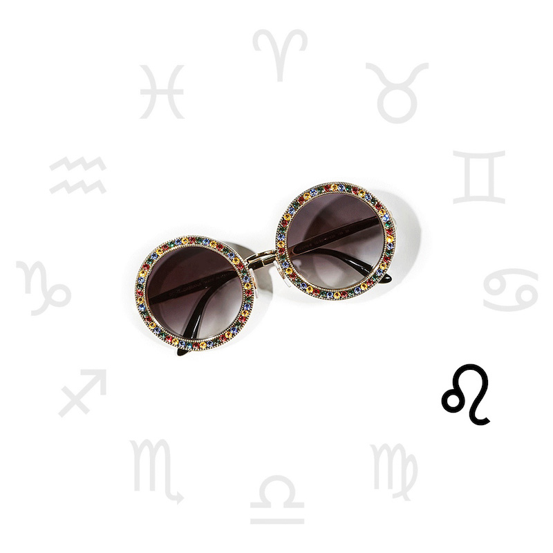 Dolce & Gabbana Round Crystal Sunglasses