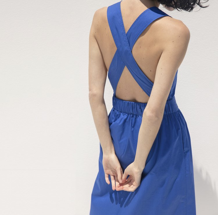 Everlane Clean Cotton Cross-Back Dress