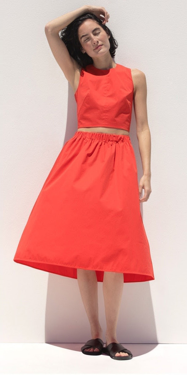 Everlane Clean Cotton Pull-On Skirt