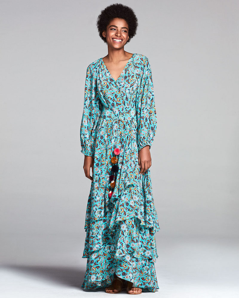 Figue Frederica Paisley-Print Silk Maxi Dress