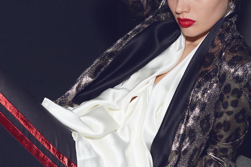 Haider Ackermann Ivory Silk Dali Draped Shirt