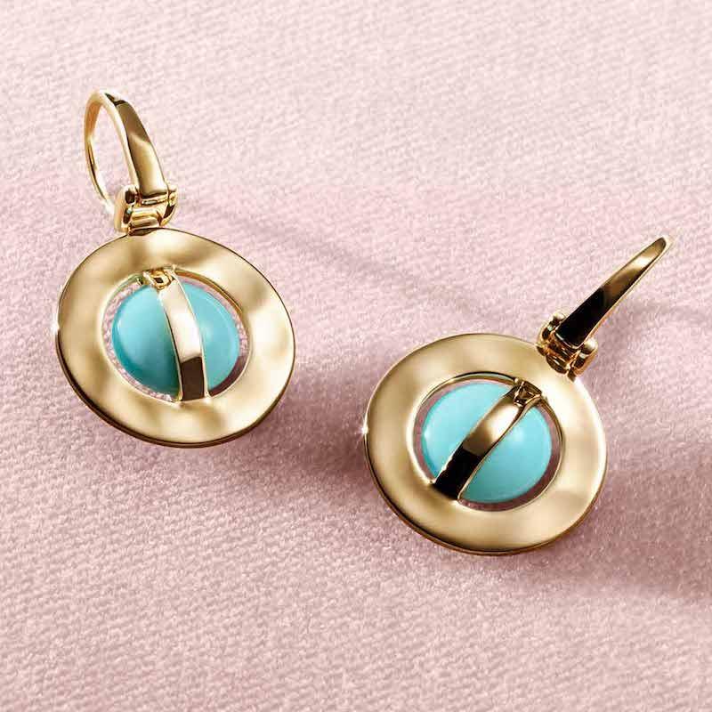 Ippolita 18K Senso Wrapped Earrings in Turquoise