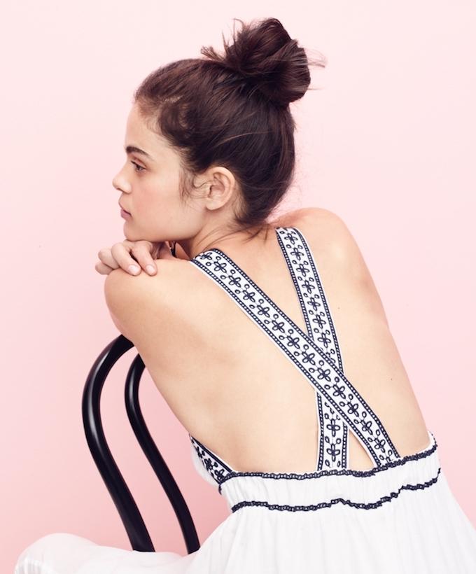 J.Crew Embroidered Cross-Back Maxi Dress