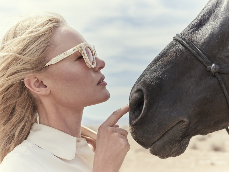 Kate Bosworth x Jacques Marie Mage Fascination St. Sunglasses in Ivory