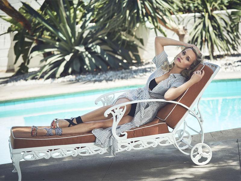 Lisa Marie Fernandez Polka-Dot Cotton-Voile Midi Dress