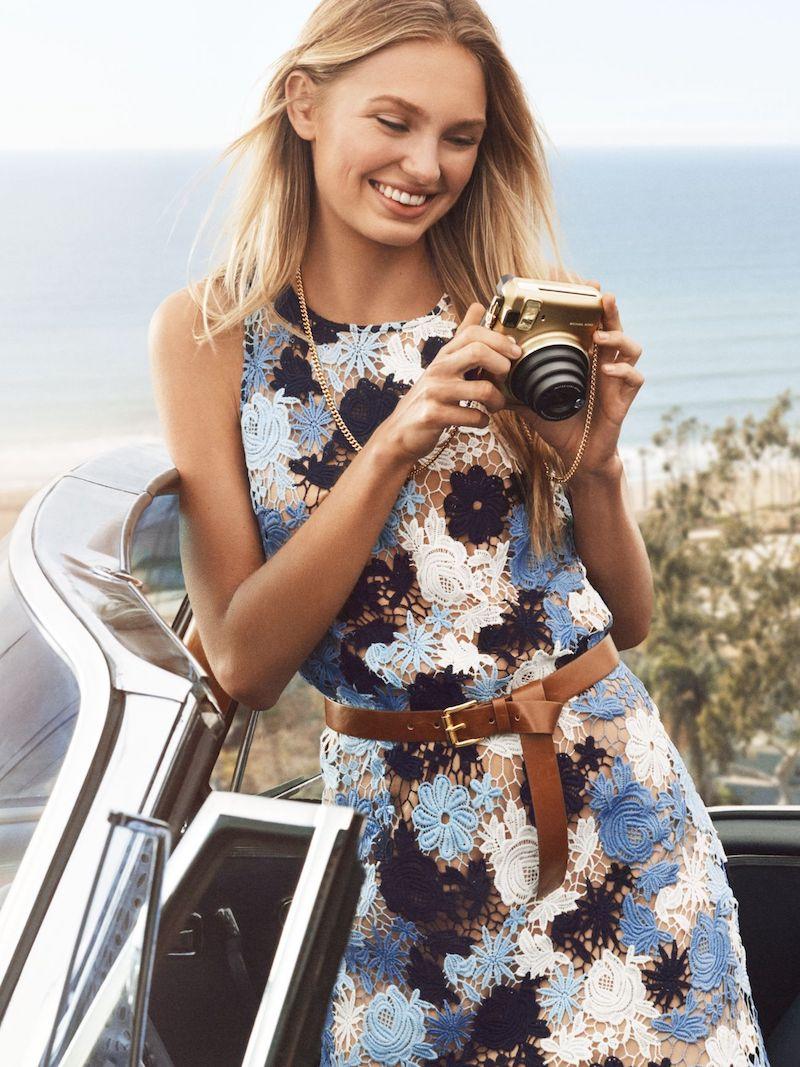 MICHAEL Michael Kors Floral Lace Shift Dress