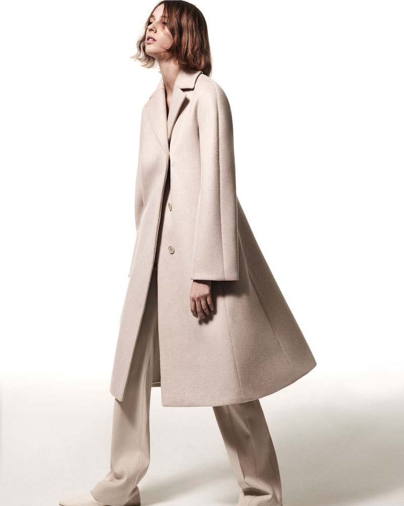 Narciso Rodriguez Wool-Cashmere Single-Breasted Coat