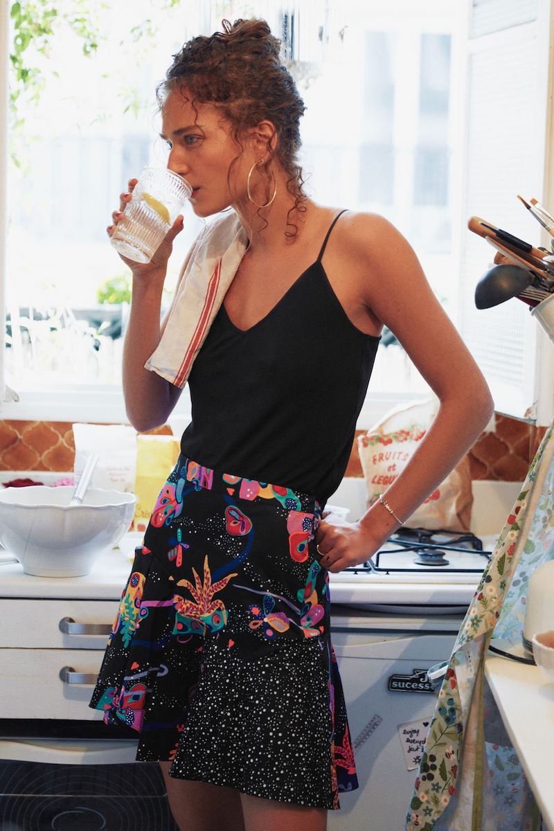 & Other Stories Coral Reef Flounce Skirt