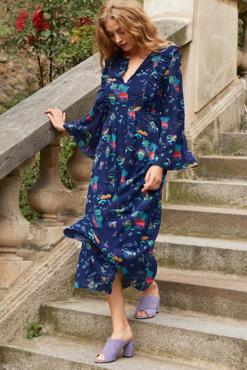 & Other Stories Wide Sleeve Frills Dress
