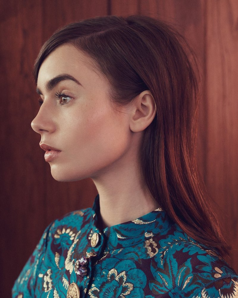 Patterns of Behavior Lily Collins for The EDIT 1