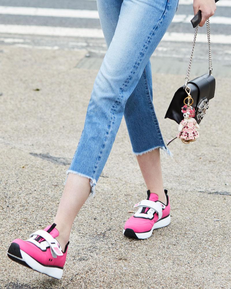 Prada Linea Rossa Stretch Mesh Platform Sneaker