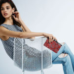 Prose & Poetry Evelyn Tie-Front Gingham Cropped Top