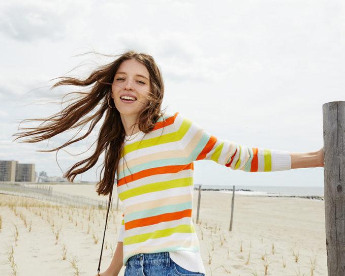 Rebecca Minkoff Cahuilla Stripe Sweater