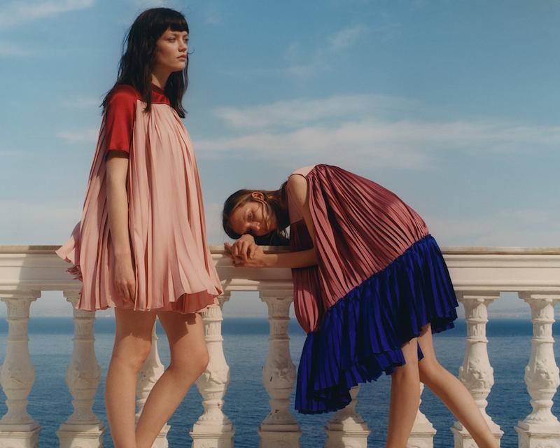 Roksanda Malene Pleated Mini Dress