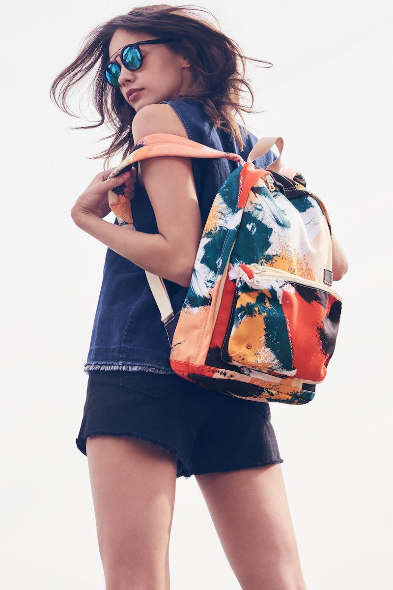 STATE Bags Brushstroke Slim Lorimer Water Resistant Canvas Backpack