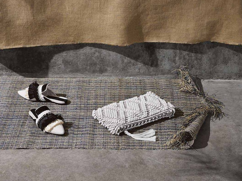 Sanayi 313 Bolaria Raffia-Embellished Slipper Shoes