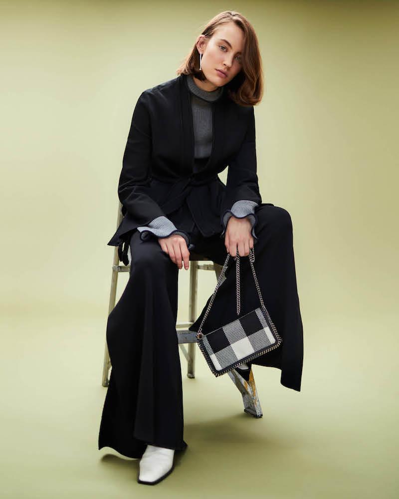 Stella McCartney Compact Knit Wide-Leg Pants