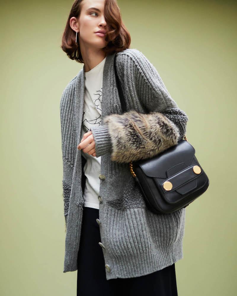 Stella McCartney Fur-Free Fur Virgin Wool Cardigan