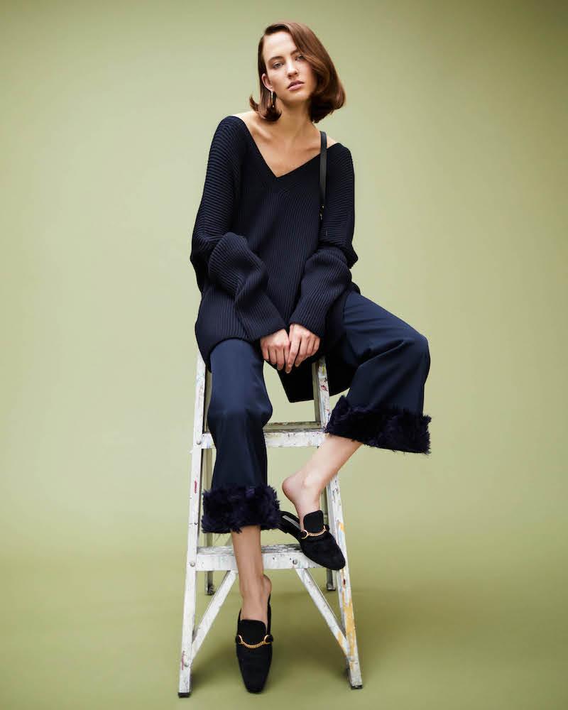 Stella McCartney Wool Oversized V-Neck Sweater