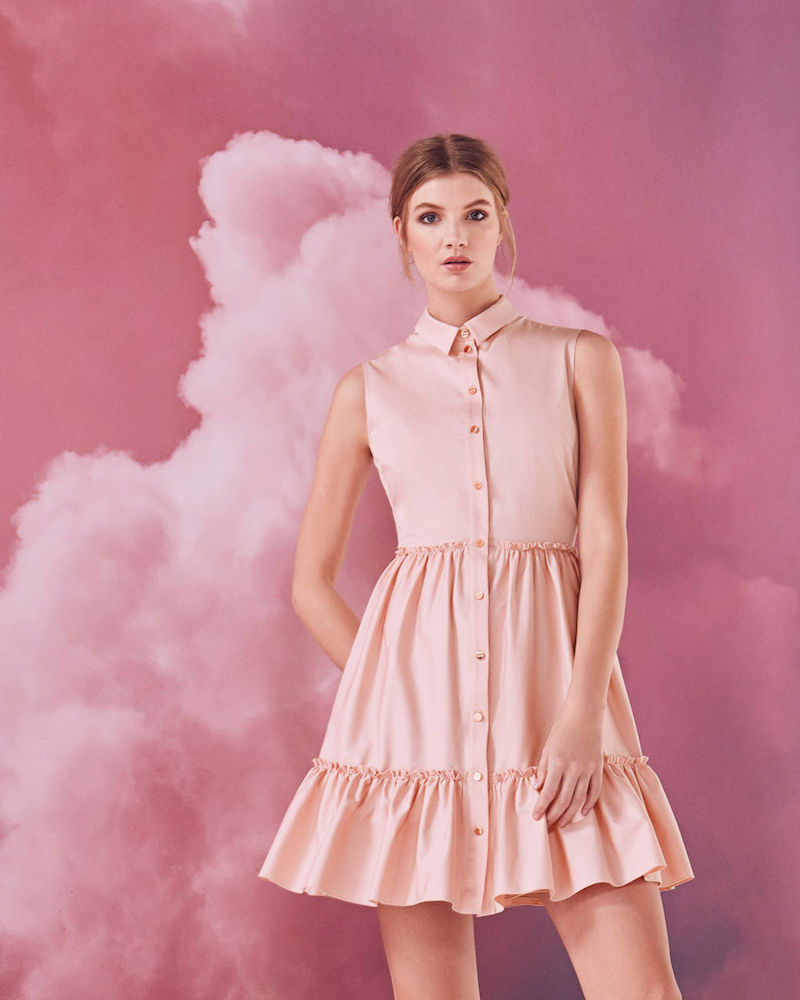 Ted Baker Daikota Sleeveless Collared Cotton-Blend Dress