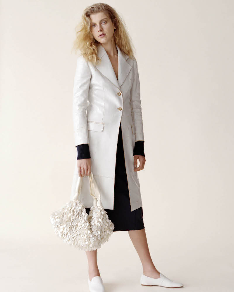 The Row Rami Crackled-Paint Leather Coat