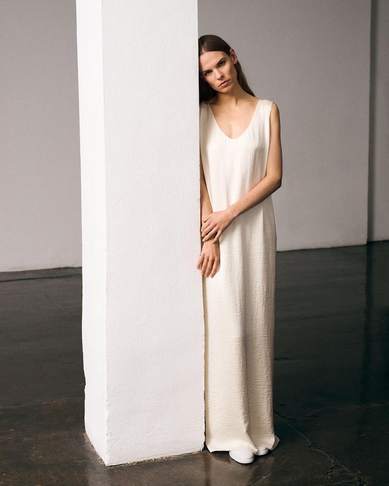 The Row Yellin Stretch-Cady Column Dress