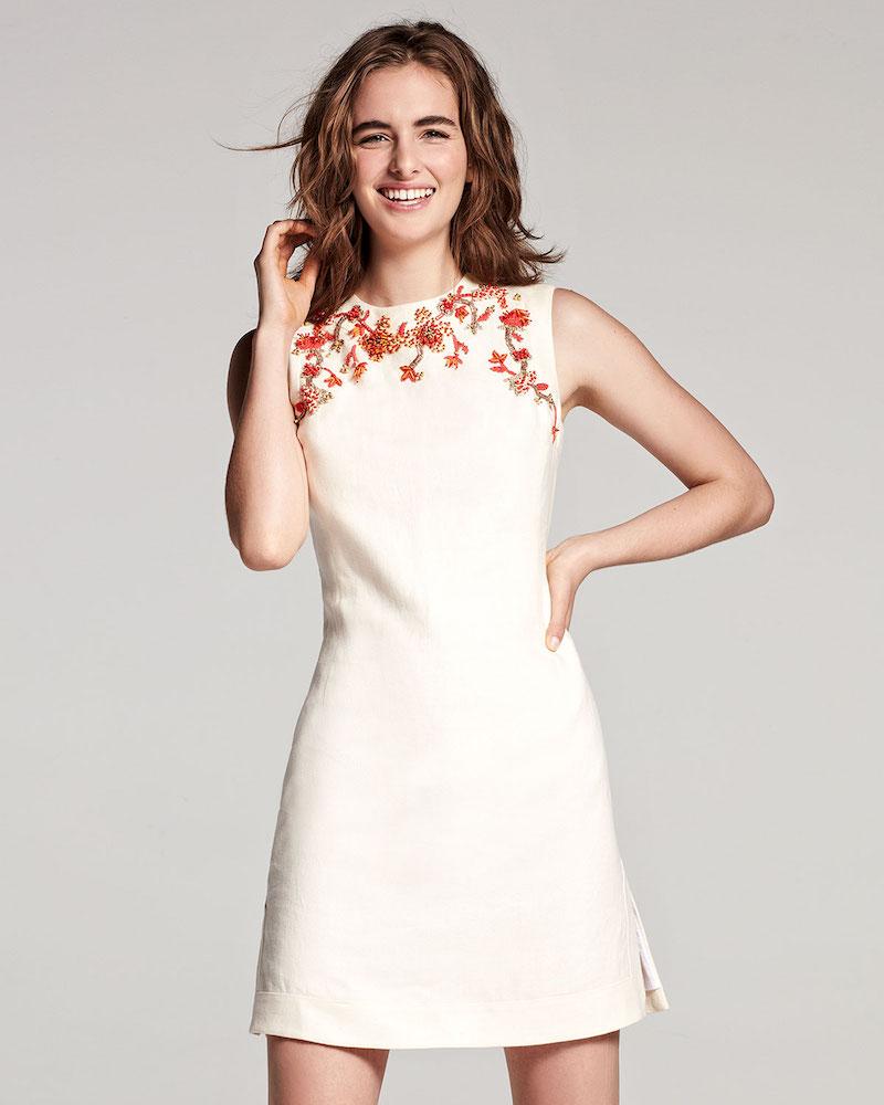 Tory Burch Embellished Sleeveless Shift Dress