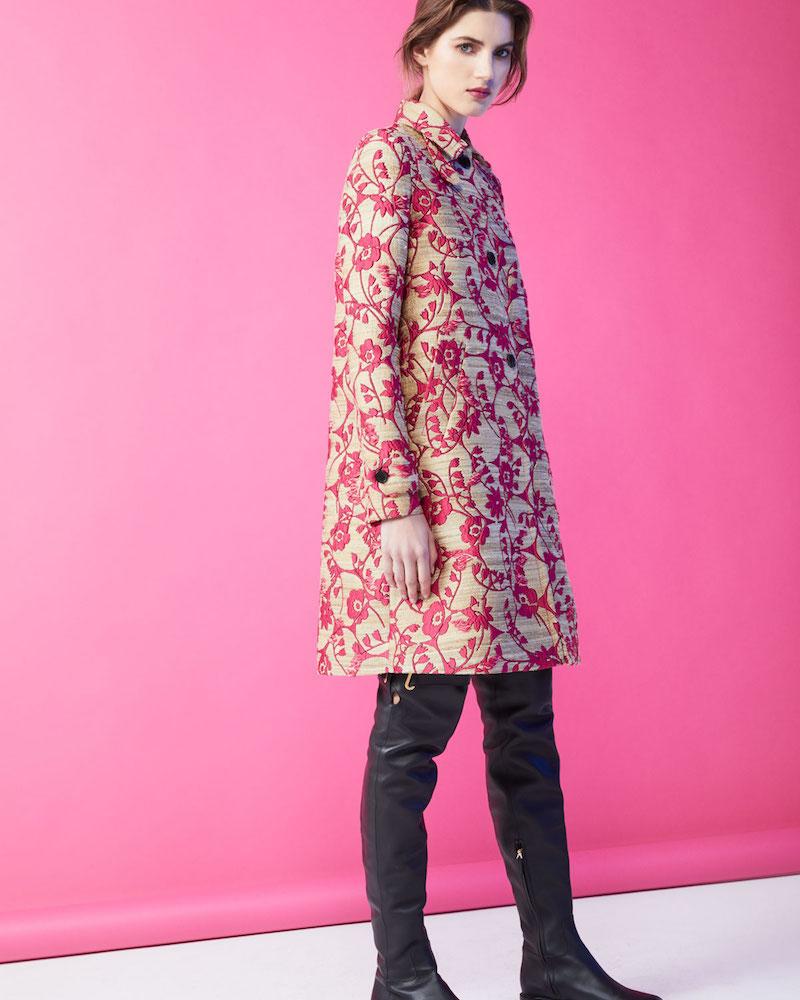 Valentino Floral Brocade Single-Breasted Coat