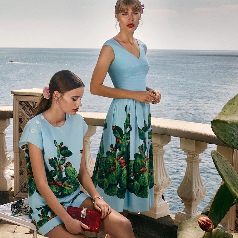 mytheresa.com x Dolce & Gabbanan Printed Cotton Dress