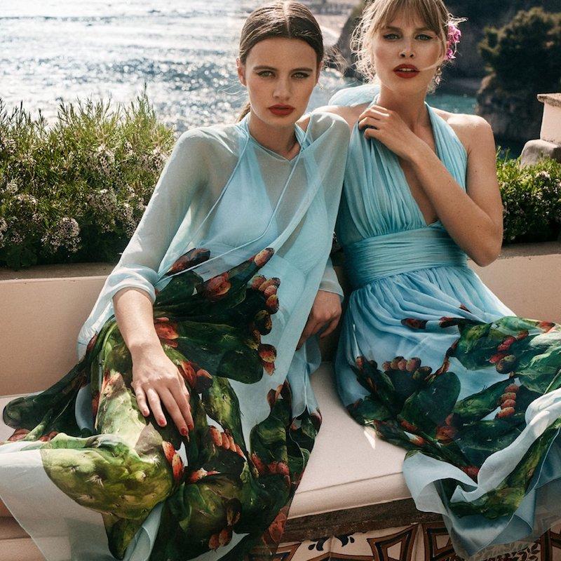 mytheresa.com x Dolce & Gabbanan Silk Kaftan Dress