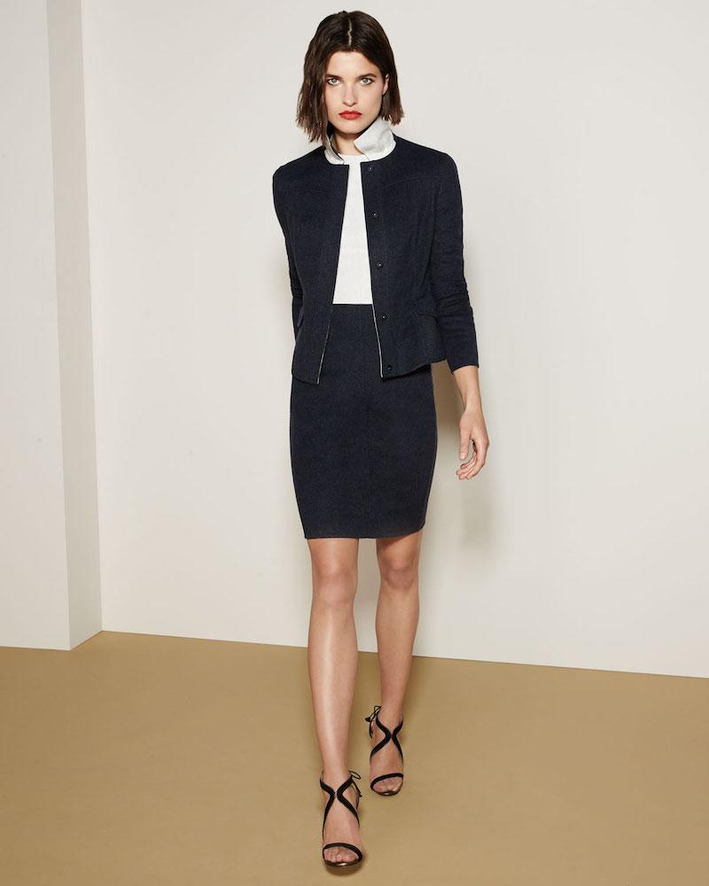 Akris Lena Reversible Bicolor Wool Jacket