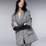 Alexander Wang Glen Plaid Peak-Lapel Jackets