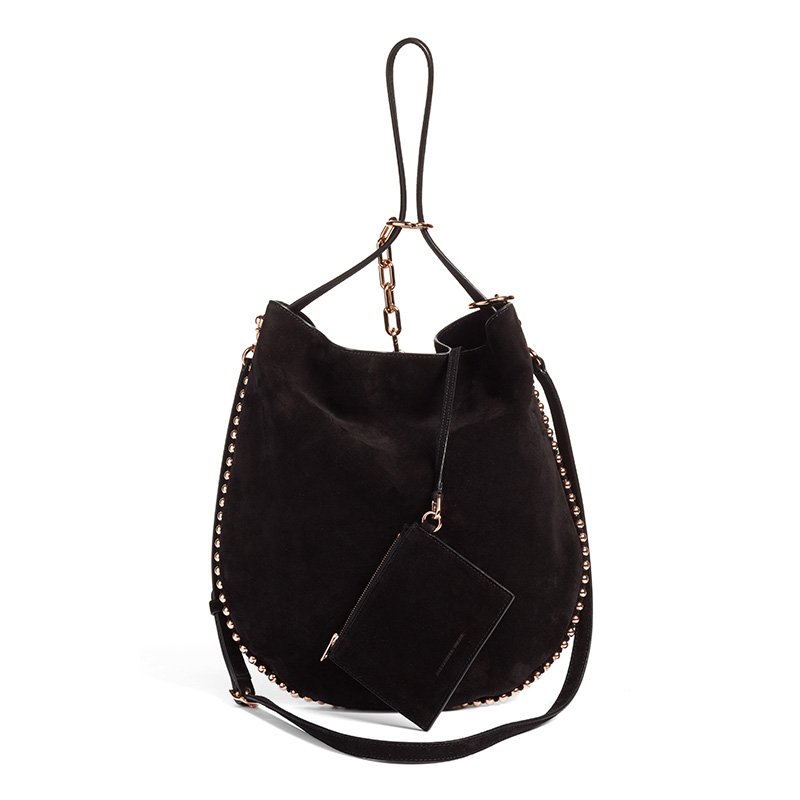 Alexander Wang Roxy Suede Hobo Bag