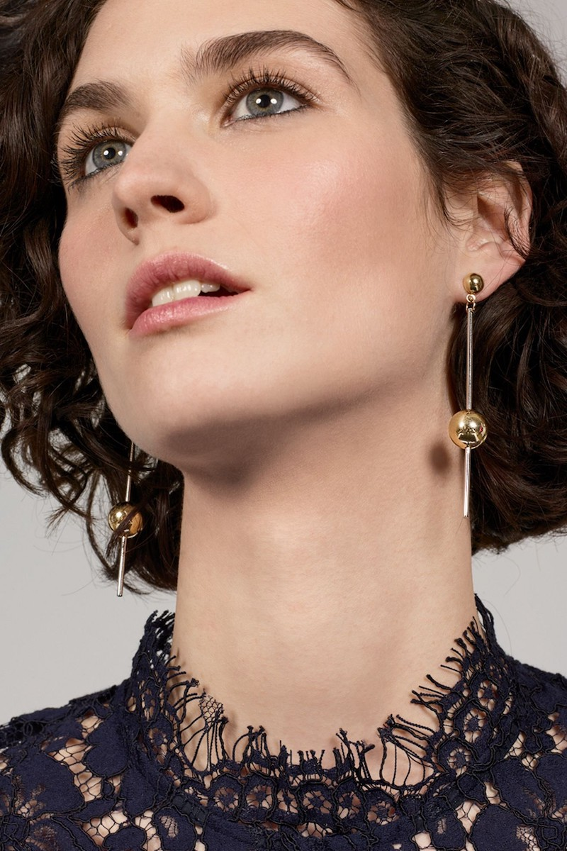 Argento Vivo Stick Ball Earrings