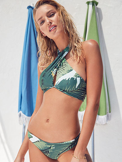 BEACH RIOT Honolulu Halter in Palm