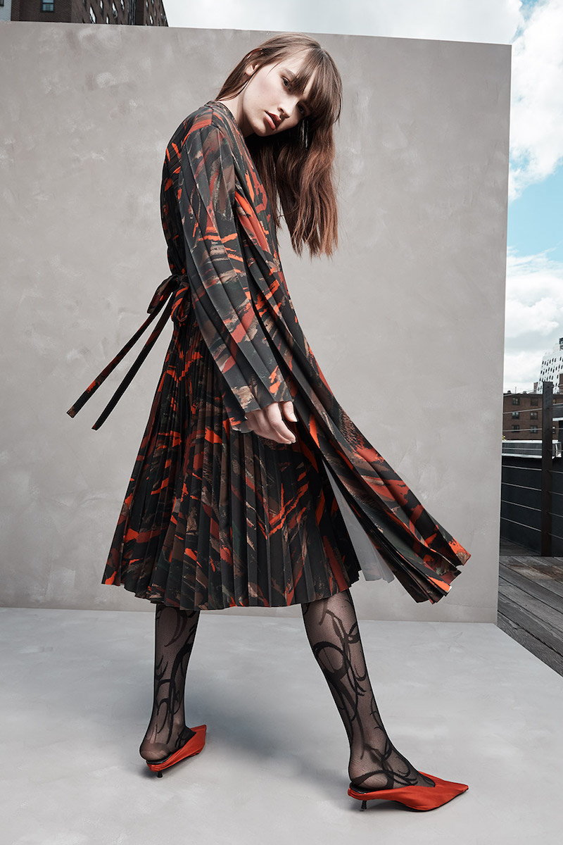 Balenciaga Pleated Belted Dress