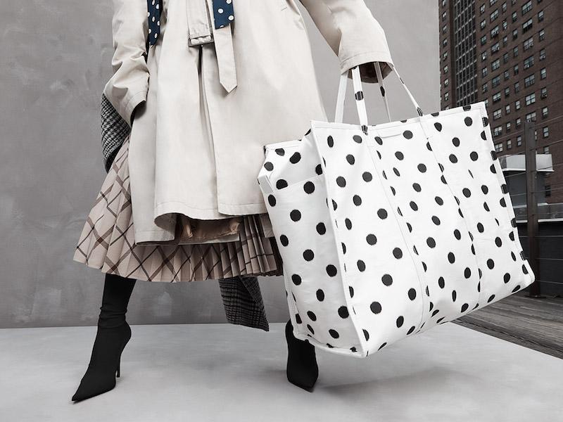 Balenciaga Polka Dot Shopper Tote