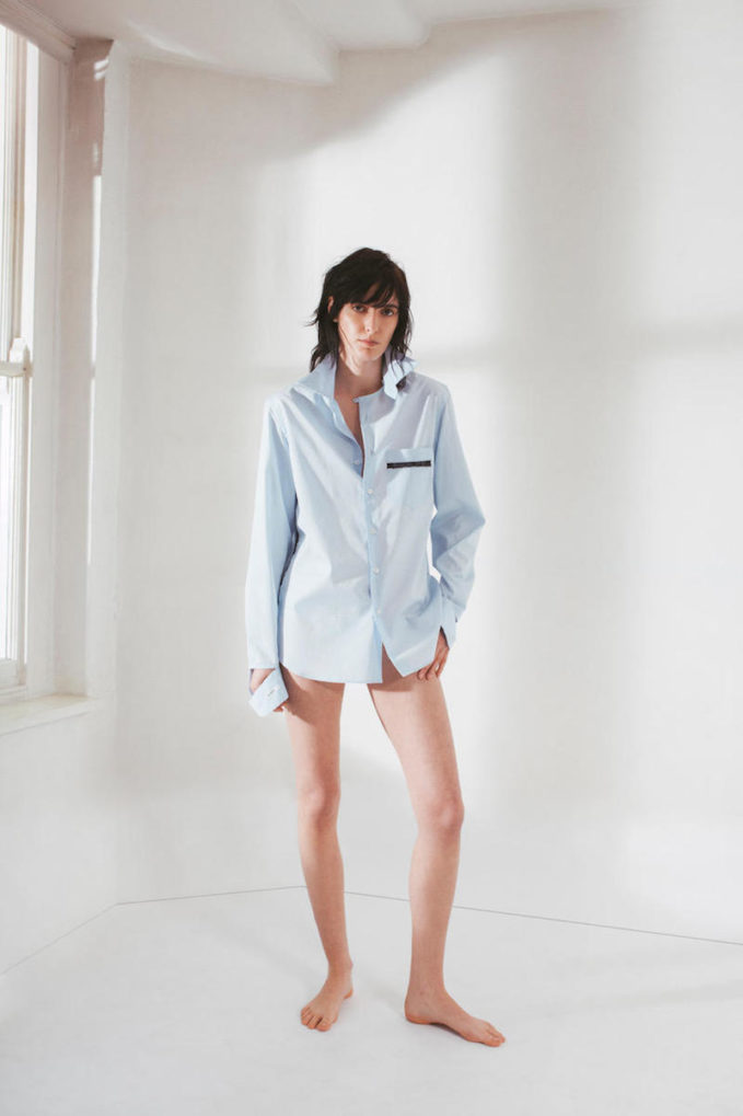 Blouse George Lace-Trimmed Poplin Shirt