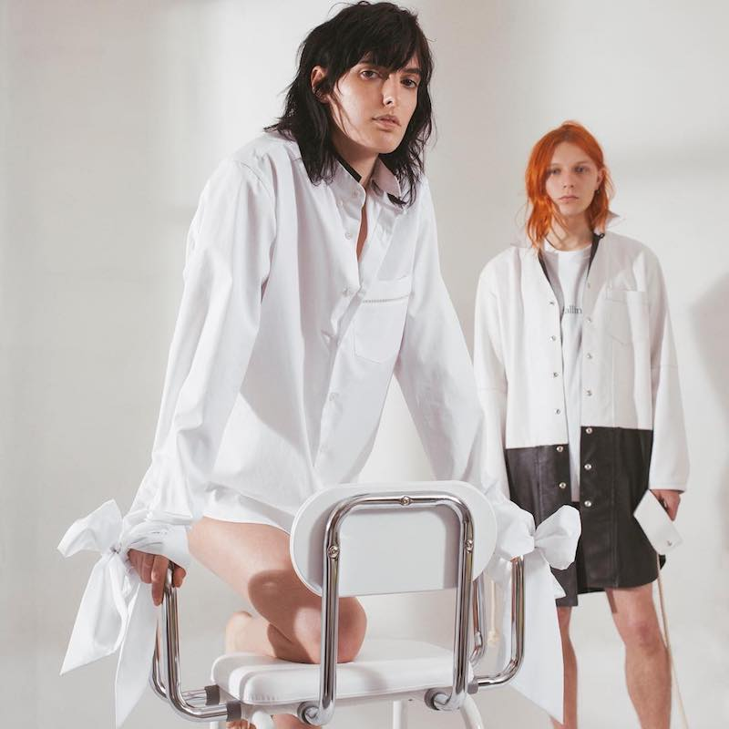 Blouse Svet Velvet-Trimmed Poplin Shirt