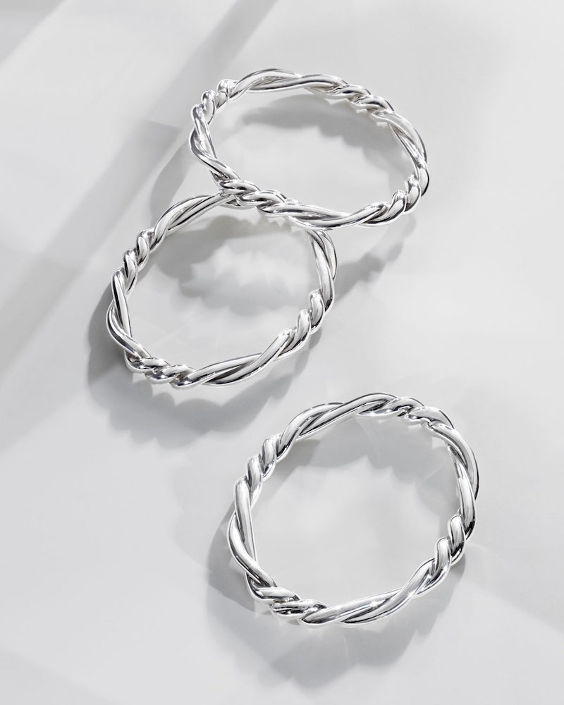 David Yurman 7mm Continuance Twisted Sterling Silver Bracelet