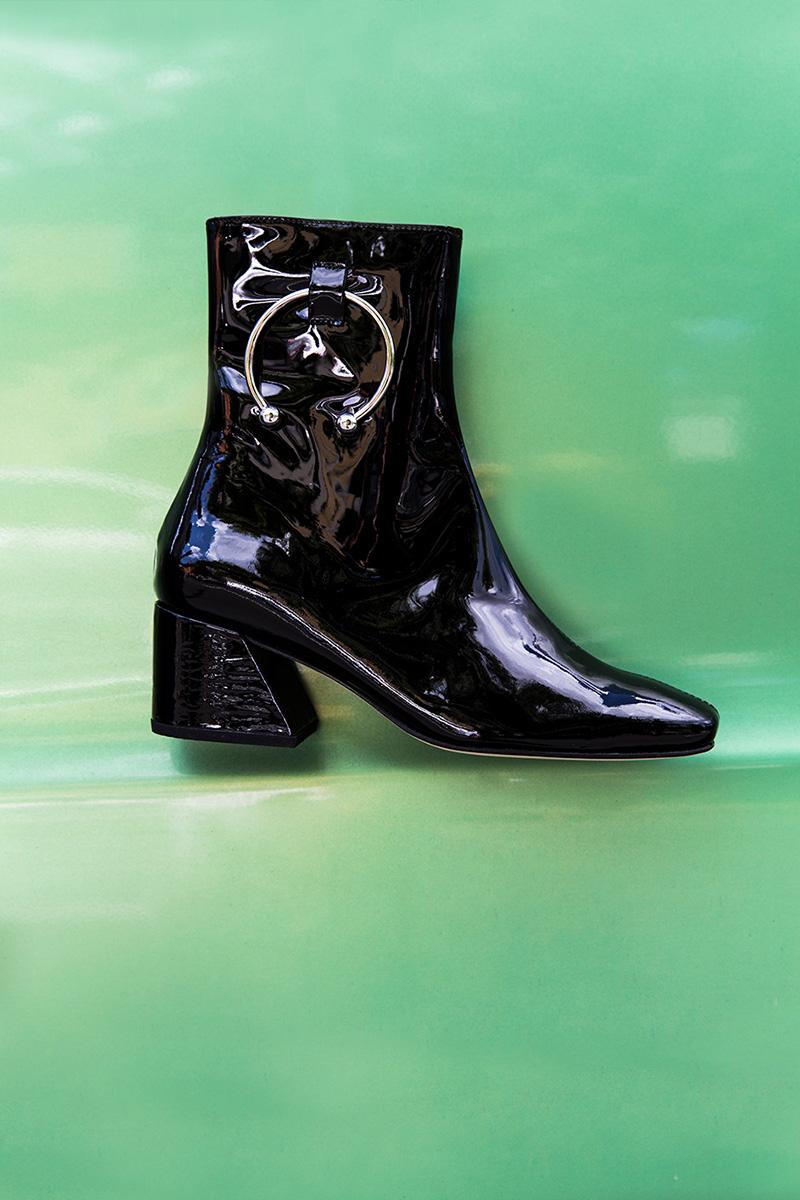 Dorateymur 50mm Pierce Patent Leather Ankle Boots