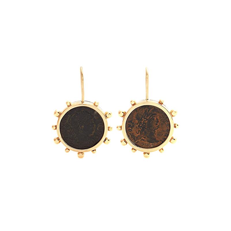 Dubini Constantine Bronze & Yellow-Gold Earrings