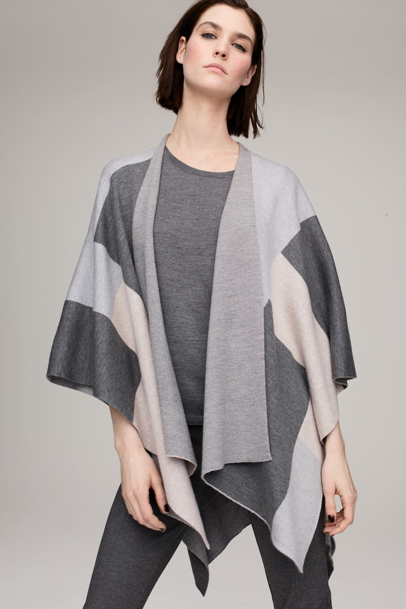 Eileen Fisher Merino Wool Serape Wrap