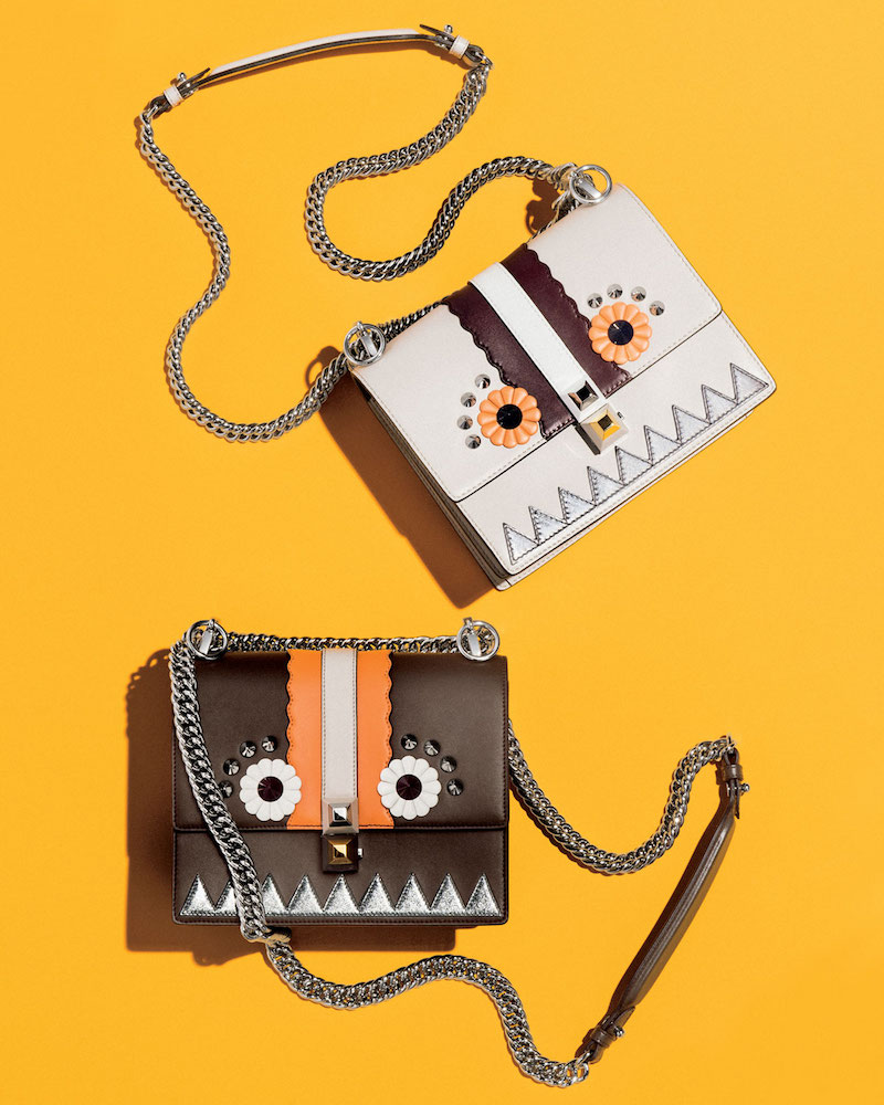 Fendi Kan I Faces Mini Shoulder Bag