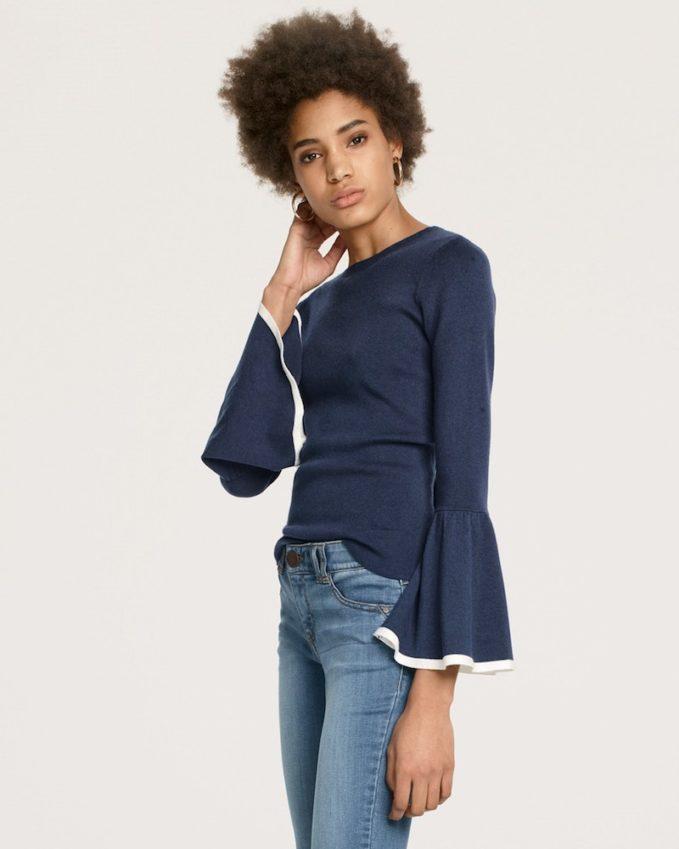 Halogen Flare Sleeve Sweater