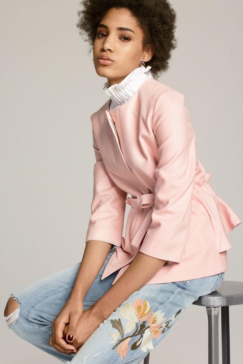 Halogen Soft Ruffle Jacket